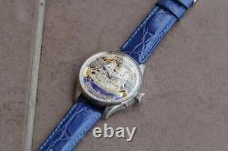Vintage chronometer iwc schaffhausen SKELETON POCKET WATCH MOVEMENT THE Sailboat