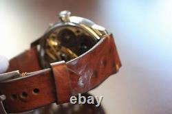 Vintage rare cal65 iwc Scafusia SKELETON POCKET WATCH MOVEMENT