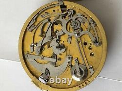 Vintage repeater pocket broken London Watch Movement Ersatzteil parts (z101)