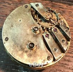 Vitz Hartmann & Co. Escape Detent Fusse Pocket Watch Movement Balance Ok