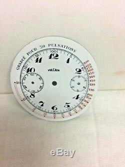 Vulcain Chronograph Pocket Watch Movement 17 Jewels
