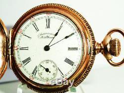 WALTHAM 0s GRADE 63 MODEL 1891 15 JEWEL TWO TONE MOVEMENT GF POCKET WATCH