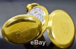 WOW! MUSEUM Qing Dynasty Chinese Duplex Bovet gilt pocket watch. Enamel movement