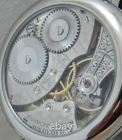 Waltham 12s Pocket Marriage Watch Conversion 43mm SS Wrist Watch 1918 Movement
