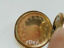 Waltham 14K Gold Hunter Case Pocket Watch Seaside Movement