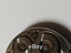 Waltham 16 size Riverside 19 Jewel Hunter pocket watch movement. For Repair