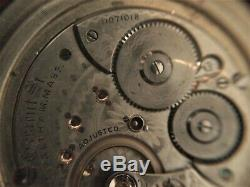Waltham 18 Size 21 Jewel Crescent St. Pocket Watch Movement. 1892