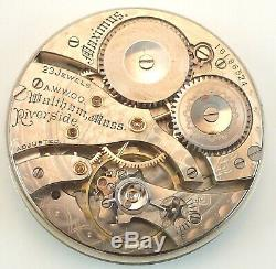 Waltham 23 Jewel Riverside Maximus A Complete Running Pocket Watch Movement