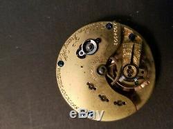 Waltham Appleton Tracy & Co. Pocket Watch Movement, Key Wind, Key Set, Working
