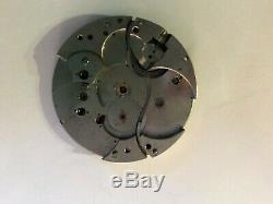 Waltham Crescent Street 21 jewel pocket watch movement personalize Thomas Feeney