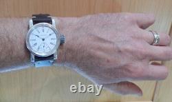 Waltham Size 0 Pocket Watch Movement Custom Sterling Silver 36mm Wrist Case 1902