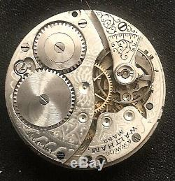 Waltham Solid 14K Gold 15j Pocket Watch with Extra Movement andd Crystal