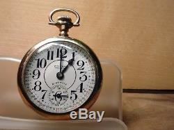 Waltham premier 21 jewel, 16's Rail Road watch, amazing dial & movement ticking