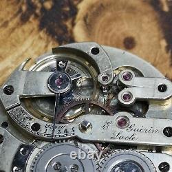 Working High Grade Wolfs Teeth Jurgensen Type Pocket Watch Movement (E104)