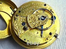 Working Quality Rack Lever Fusee Pocket Watch Movement. J Gate Preston. Antique