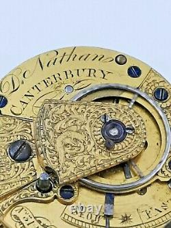 Working, Quality Verge Fusee Pocket Watch Movement with Sub Seconds (Z38)