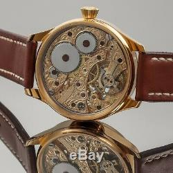 Wristwatch from Pocket Movement Watch Vintage New Steel Case Hand Engraved HWC