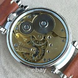 Wristwatch with VINTAGE Pocket Watch MOVEMENT by ZENITH Marriage