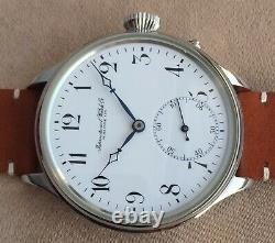 Wristwatch with VINTAGE pocket Watch MOVEMENT by IWC pre-1920