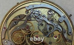 Zenith Chronograph Pocket Watch movement & enamel dial 45,5 mm. In diameter