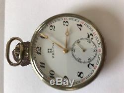 Zenith Taschenuhrwerk Uhrwerk pocket watch movement working perfectly