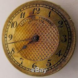 Zentler Fs. Geneve 17 jewels pocket watch Movement for parts OF 25.3 mm
